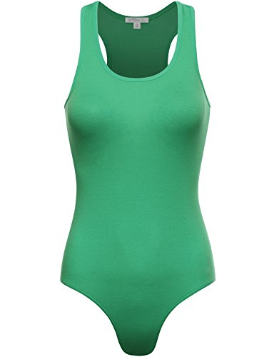 Fifth Parallel Threads FPT Womens Basic Racerback Tank Top Bodysuit Green -