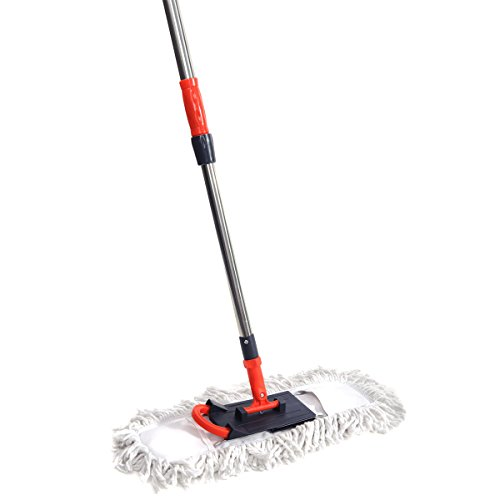 "NFHOME Dust Floor Mop with Telescopic Pole Height 50"" MAX, 1"