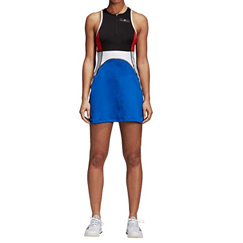 adidas by Stella McCartney Women's Tennis Dress, Black/Bold Blue, Small