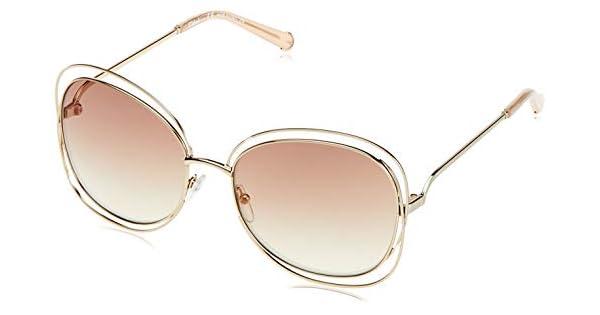 Amazon.com: anteojos de sol Chloe CE 119 S 724 gold-peach ...