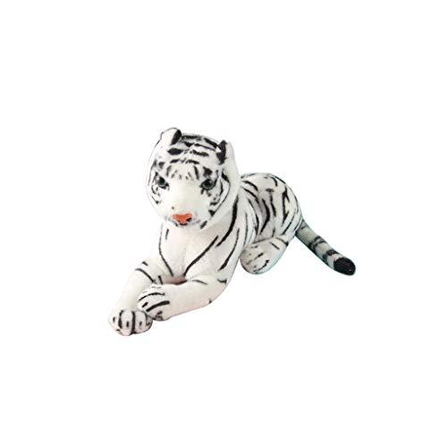 - Elevin(TM)  Simulation Yellow White Tiger Plush Toy Pillow Comfort Decorative Pillow (White)