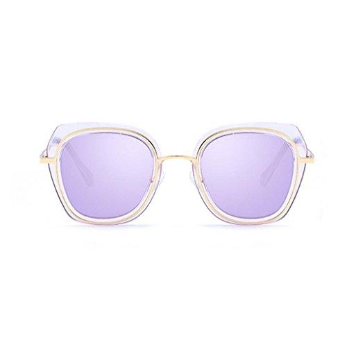 frame Fashion Color size pink metal polarizadas Black hombre tamaño Wayfarer Light Ultra conducción de sol GAOLIXIA Mg marco Square Lady marco gafas Púrpura Gafas de Al sol One de gC5qCcO