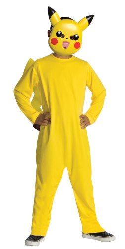 Pikachu Pokemon Costume : Solid Yellow Child's
