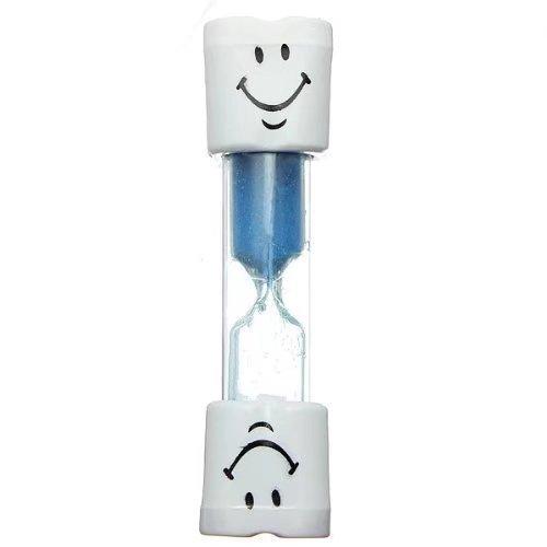 Zacr Kids Toothbrush Timer ~ 2 Minute Smiley Sand Timer for Brushing Children's Teeth (Blue)