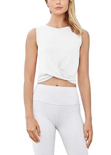 Bestisun Womens Cropped Workout Tops Flowy Gym Workout Crop Tops Athletic Yoga Shirts for Women