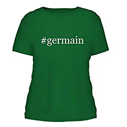 Germain A Nice Hashtag Misses Cut Womens Short Sleeve T Shirt Green Large