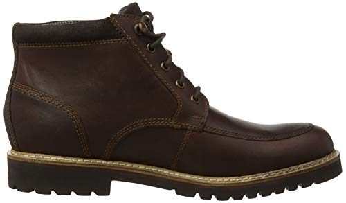 Classici Classici Brown Saddle Boot Marshall Brown Rugged Toe Mock Mock Rockport Stivali Uomo Marrone Saddle TO6UwqnY