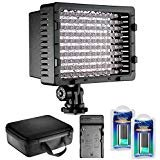 Lamp 126 - Neewer CN-126 LED Video Light Dimmable Lamp Panel Kit Includes: Video Light with Color Filters, Battery, AC Wall Charger with Car Adapter and Carrying Case for Cannon DSLR Cameras and DV Camcorders