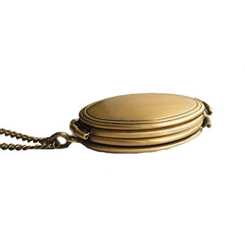 - sameno Expanding Photo Locket Angel Wings Pendant Necklace Jewelry Gift for Women Girls (Gold C)