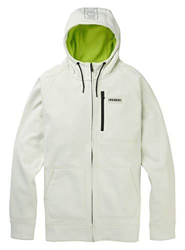 Burton Men's Crown Bonded Full-Zip Hoodie, Stout White, Large (Snowboard Jackets Men Burton)
