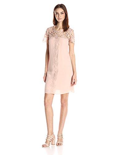 Nanette Nanette Lepore Women's Lace Shift Dress, Savannah Rose, 14 ()