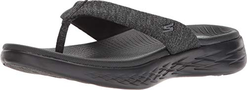 (Skechers On The GO 600 Preferred Womens Flip Flop Thong Sandals Black 12)