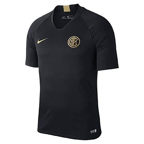 Inter Milan Football Shirts - Nike 2019-2020 Inter Milan Training Football Soccer T-Shirt Jersey (Black) - Kids