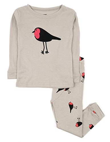 2 Piece Embroidered Pajama Set - Birds 2 Piece Pajama 6 Years