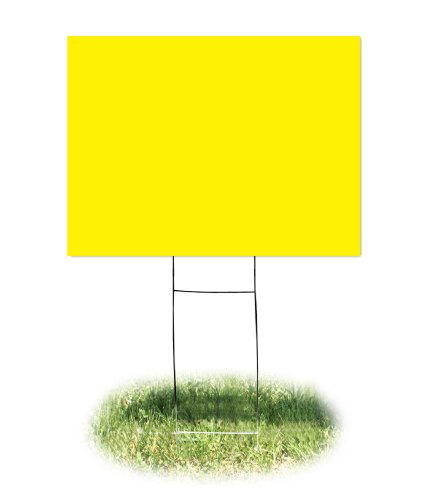 Headline Sign 5413 Yard Sign, Blank, Yellow, 18 Inches by 24 Inches