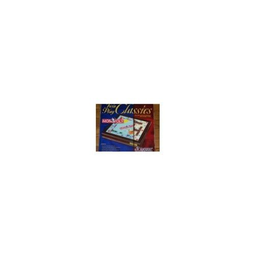 Twin Play Classics Monopoly Scrabble Wooden Box by Scrabble