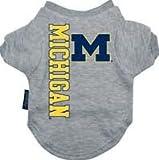 Hunter Mfg. LLP NCAA Michigan Wolverines Pet T-Shirt, Team Color, Medium