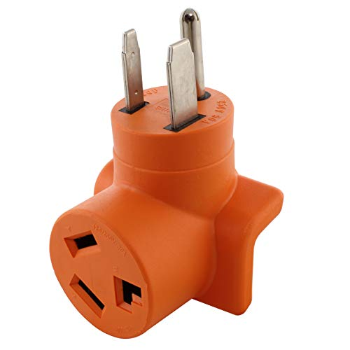 AC WORKS [AD6501030] Welder 6-50P Plug to 10-30R 3-Prong 30 Amp 3-Prong Dryer Adapter