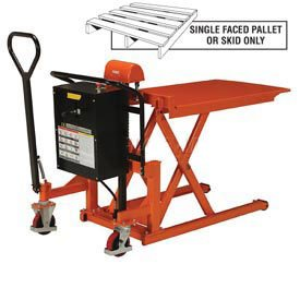 High Lift Skid Truck, Battery Operated, 2200 Lb. Capacity, 27 x 44-1/2 ()