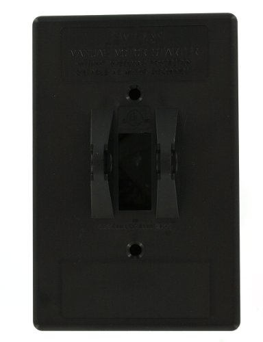 Leviton N13NC-TDS Type 1 Enclosure, For Use with 30 Amp Motor Starter Switches, Thermoplastic, Black (Levitron Starter)