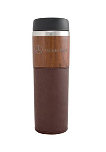 Genuine Mercedes Benz Double Wall Wood Grain Tumbler Mug with Sleeve (Mercedes Benz Cup)