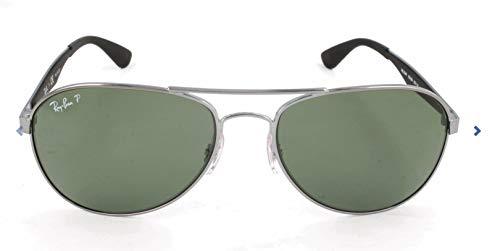 (Ray-Ban RB3549 Aviator Sunglasses, Gunmetal/Polarized Green, 58 mm)