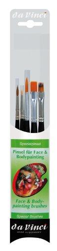 (da Vinci Student Series 5351 Facepainting Brush Set, Synthetic, Multiple Sizes, 5 Brushes (Series 1381, 333, 334, 5575, 36))
