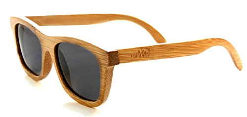 RawWood Originals Natural/Smoke Polarized Bamboo Wood - Bamboo Custom Sunglasses
