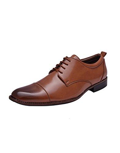 SIR CORBETT Men #39;s Tan Derby Synthetic Formal Shoes