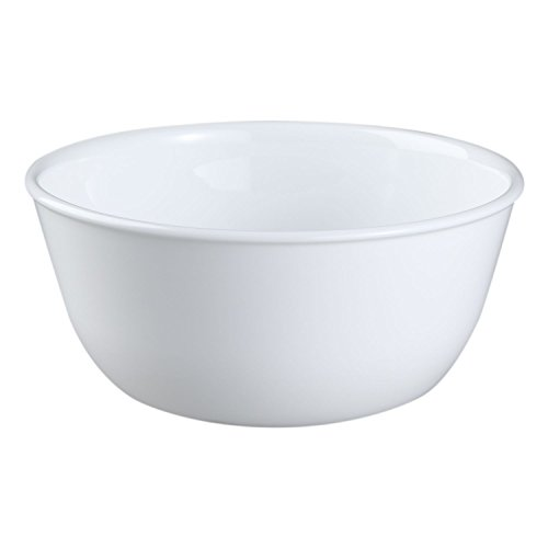 Corelle Livingware Winter Frost White 28 Ounce Soup / Cereal Bowl (Set of 4) (Set For Breakfast Sale Table)