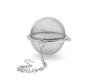QwinOut 1Pcs Reusable Stainless Steel Mesh Infuser Strainer Tea Ball for Loose Leaf Grain Tea Cups
