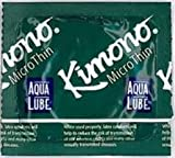 Kimono Microthin with Aqua Lube Premium Lubricated Ultra Thin Latex Condoms and Silver Pocket/Travel Case (12)