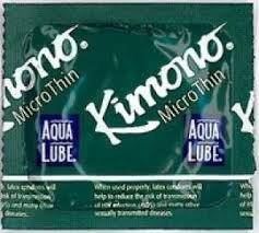 Kimono Microthin with Aqua Lube Premium Latex Condoms and Silver Pocket/Travel Case-24 (Kimono Lubricant)