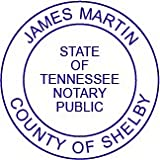 Round Notary Pre Inked Stamp For State Of Tennessee Customized In One Day With