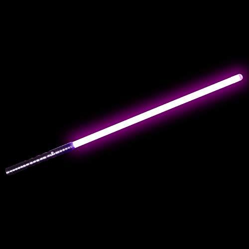 YDD Dueling Light Saber,Star Wars Black Series Lightsaber, Realistic Blaster Sound and Flashes,USB Charging,Detachable(Black Hilt Pink - Purple Mace Windu Lightsaber