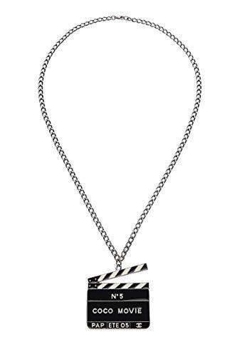 CHANEL Black Enamel Coco Movie Necklace (Pre-Owned)