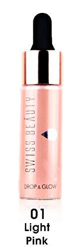 SWISS BEAUTY B W All Black Drop and Glow Illuminator Liquid Highlighter (1 Light Pink)