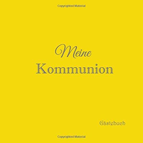 Meine Kommunion Gästebuch Gästebuch Kommunion Mit