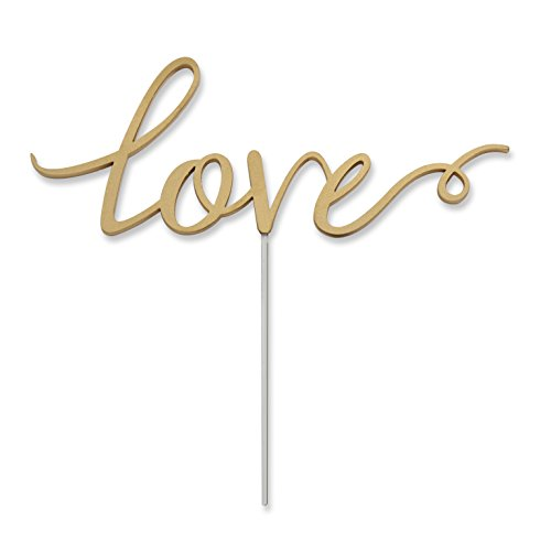 Kate Aspen Love Cake Topper, Wedding Decoration, Food Safe Acrylic ()