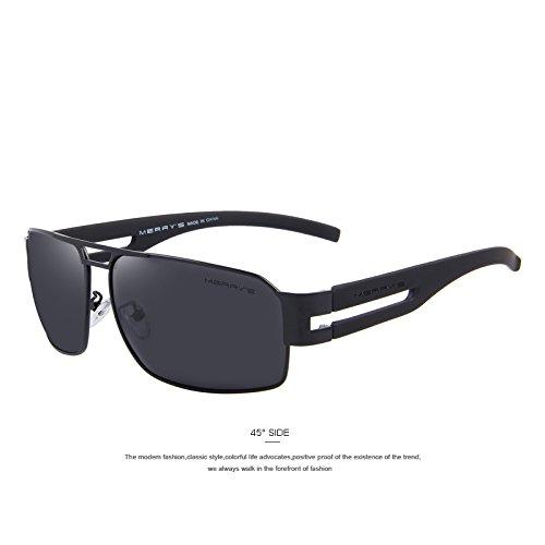 lentes aluminio Defender de C01 gafas las C01 Polaroid EMI polarizadas de de sol Negro de clásicas hombres gafas de TIANLIANG04 sol de Black la Guía recubrimiento tonos 7Epqaa
