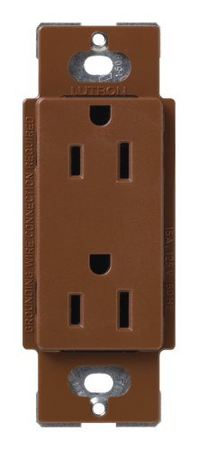 Lutron SCR-15-SI Satin Colors 15A Electrical Socket Duplex Receptacle, Sienna by - Satin Lutron Colors
