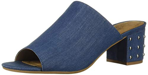 Aerosoles Women's MID Level Sandal, Denim Fabric, 9 M US (Heel Denim Mule)