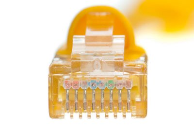 50 Foot, Yellow Cat5e Ethernet Patch Cable Standard Boot