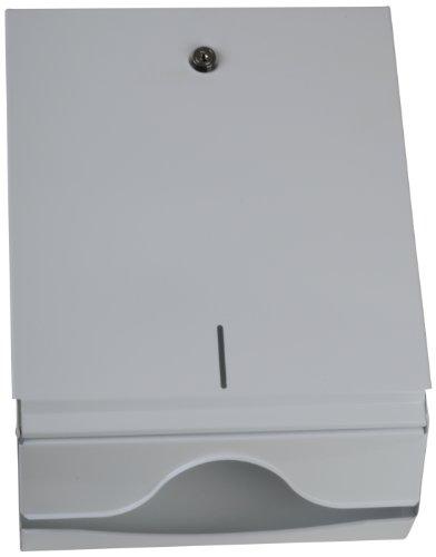 Funny Spender für Papierhandtücher, abschließbar metall/weiß, für 600 Tücher, 1er Pack (1 x 1 Stück)