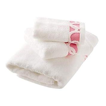 Bearony Suave Juego de 3 Toallas de algodón para Parejas Toallas de baño Toallas de baño Juego de Toallas (Color : Pink): Amazon.es: Hogar
