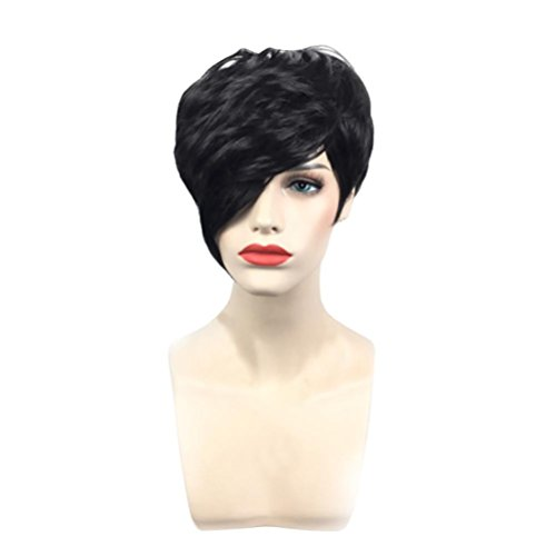 Gorgeous Short (Coohole Fashion Europe and the United States Style Wigs Gorgeous Short Hair BoBo Hair Blonde Straight Curly Hair (B))
