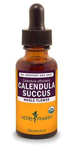 Herb Pharm Certified Organic Calendula Succus Liquid Topical Extract for Minor Pain Support - 1 Ounce