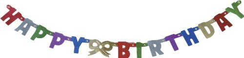 Party Partners Design Itty-Bitty Jointed 20 Letter Banner: Happy Birthday, Multicolored by Party Partners Design