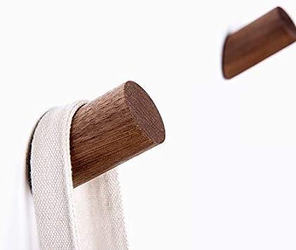 M/ützen Schals Flur Wohnzimmer Kleidung und Kopfh/örer im Schlafzimmer Holzhaken zum Aufh/ängen von M/änteln 6 St/ück Holz Kleiderhaken ANZOME Holz Haken Holz