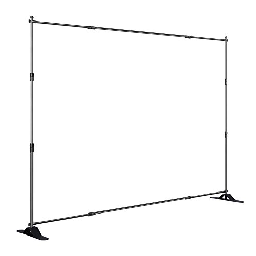 Step and Repeat 8 Feet8 Feet Advertising Display Banner Stand Adjustable Telescopic Trade Show Backdrop by AMPM24US-US (Image #5)